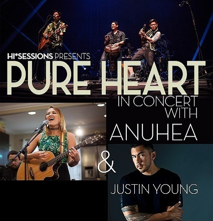 pure heart in concert with anuhea justin young hawaii theatre center. Black Bedroom Furniture Sets. Home Design Ideas